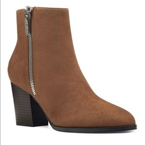 Nine West Neva 2 Suede Ankle Booties Size 9 NWB
